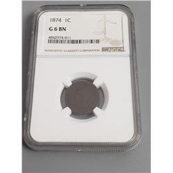 Coins - NGC 1874 1 Cent