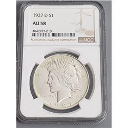 Coins - NGC 1927 D Peace Dollar