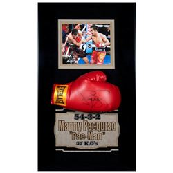 Autographed Boxing Glove By Manny Pacquiao