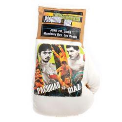Pacquiao VS. Diaz souvenir boxing glove