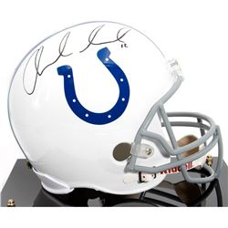 Andrew Luck Signed Indianapolis Colts Full Size Pro helmet