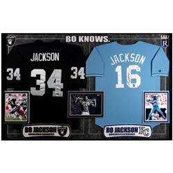 Bo Jackson football/baseball jerseys