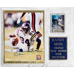 Randy Moss Vikings Star Rookie Autographed Framed Photo
