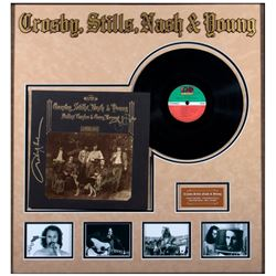 Grosby, Stills, Nash & Young band signedalbum cover.
