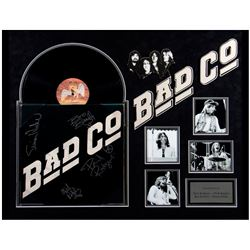 Bad Co framed and band signed album cover.