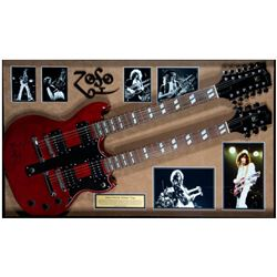 Jimmy Page signed guitar