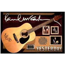 Paul McCartney signed guitar