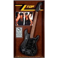 ZZ Top signed guitar