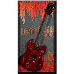 AC DC signed guitar