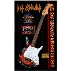 Def Leppard signed guitar