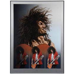 Slash Signed Limited Edition Framed Collectible.