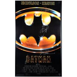 Batman signed movie poster