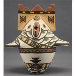 ZUNI/HOPI INDIAN POTTERY OWL (MAVAPU MUISHIWI)