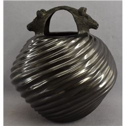 MATA ORTIZ POTTERY EFFIGY JAR (HECTOR ORTEGA)