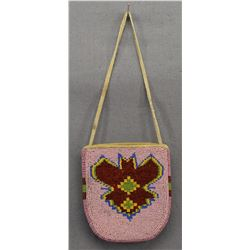 CROW INDIAN BEADED POUCH