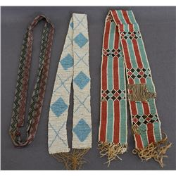 PLAINS INDIAN LOOM BEADED STRIPS AND NECKLACE