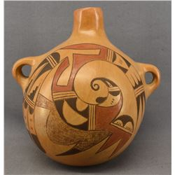HOPI INDIAN POTTERY CANTEEN ( GARNET PAVATEA )