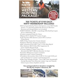 1 Ticket for Ultimate Western Hunting Package