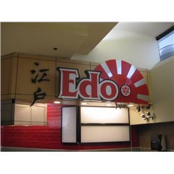 EDO JAPAN SIGN - ALREADY REMOVED FOR PICK UP AT AUCTION
