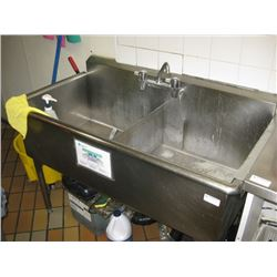 DOUBLE STAINLESS STEEL SINK- ALREADY REMOVED FOR PICK UP AT AUCTION