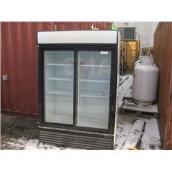CROWN WHITE DOUBLE DOOR COOLER 53 INCHES WIDE