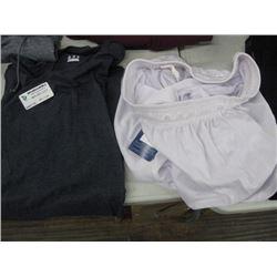 XL CHAMPION NAVY SHIRT AND WHITE SHORTS