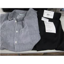 28 PALM SZ MEDIUM SHIRT AND CALVIN KLEIN SLIM FIT 36W X 30 L