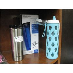 3PC ASSORTED WATER BOTTLES