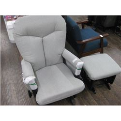DUTAILIER GLIDER ROCKER WITH OTTOMAN