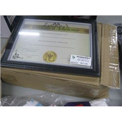 BOX OF CERTIFICATE OF ACHIEVEMENT FRAMES