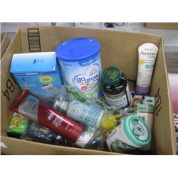 BOX OF HEALTHCARE SUPPLIES