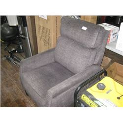 GREY MANUAL RECLINER CHAIR WITH PILLOW