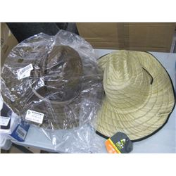 2PC ASSORTED SUNSHADE HATS CRACKED