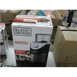 BLACK AND DECKER BURR MILL COFFEE GRINDER