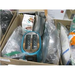 BOX OF HOUSEHOLD SUPPLIES