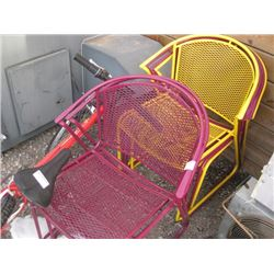 6 METAL PATIO CHAIRS