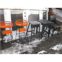 STOOLS / TABLE / CHAIRS