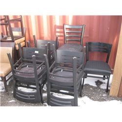 7 CHAIRS / 1 STOOL WORN
