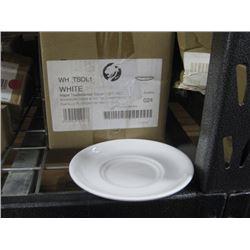 4 BOXES X 24PC WHTSOL1 WHITE MAPLE TEA SAUCER 8 INCH