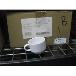 24PC WTTCC1 CHATEAU WHITE COFFEE CUP 6OZ