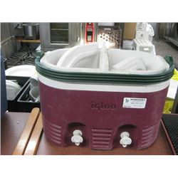IGLOO COOLER DOUBLE DRINK DISPENSER