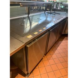 82 INCH REFRIGERATED PREP TABLE WITH SNEEZE GUARD REMOTE COMPRESSOR INCLUDED