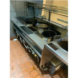 INTERTEK 3 HOLE GAS FIRED WOK 67 INCH