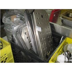 CRATE OF STAINLESS INSERT LINERS