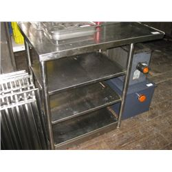37 INCH STAINLESS STAND WITH UNDERSHELVING