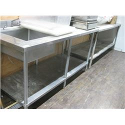 6FT STAINLESS TABLE WITH SINK