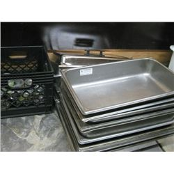 ASSORTED CHAFFING DISH PARTS AND FUEL