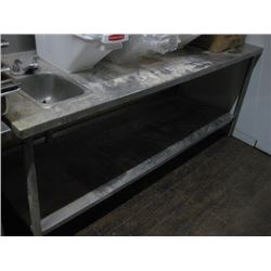 7FT STAINLESS STEEL TABLE WITH SINK