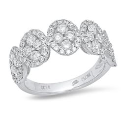 14K White Gold 1.32CTW Diamond Ring, (VS-SI1/VS-SI1/G)
