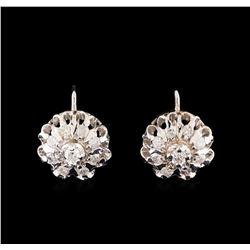 14KT White Gold 1.10 ctw Diamond Earrings